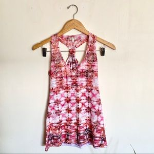 Maurices patterned razor back tank